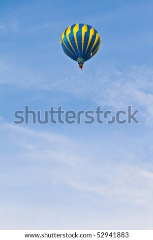 Hot Air Balloon with blue sky