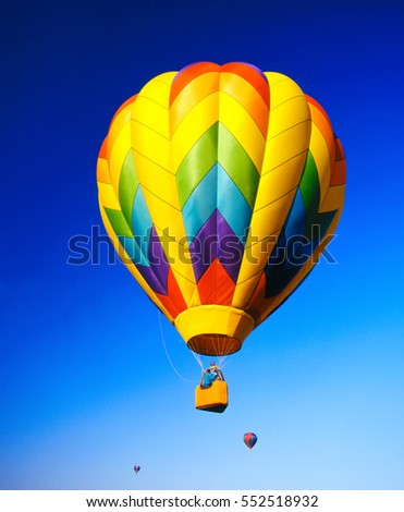 Hot air color ball