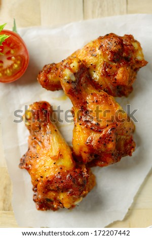 Hot and Spicey Buffalo Chicken Wings - stock photo