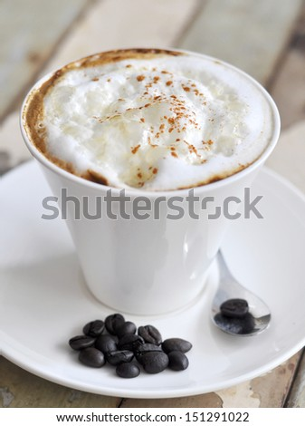 hot cappuccino coffee
