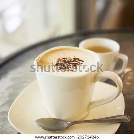 Hot Cappuccino for you  - stock photo