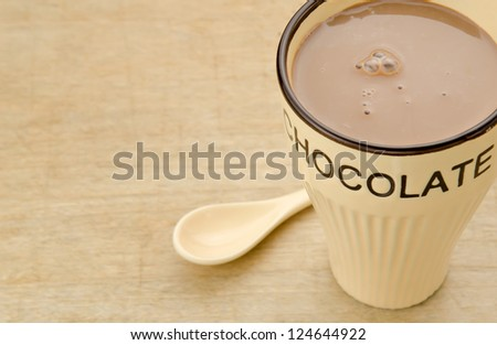 Hot chocolate drink - stock photo