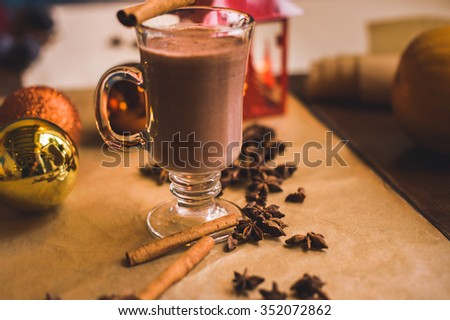 Hot chocolate in Christmas style