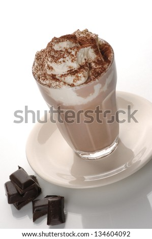 Hot chocolate with cream