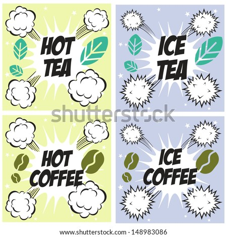 ... cold coffee drink with ice on white background stock photo 10475623