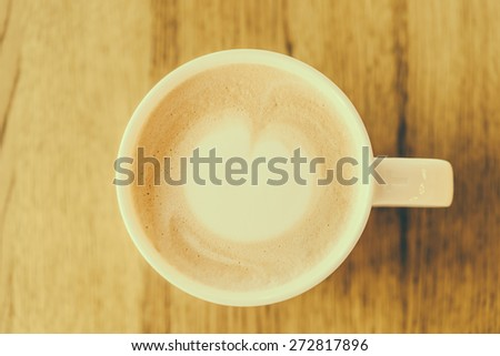 Hot Coffee cup in coffee shop - vintage effect style pictures