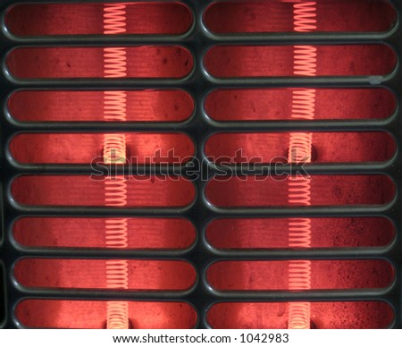Hot coils - stock photo