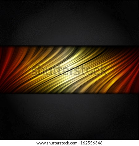 Hot Colors Stripes Background with Black Frame - stock photo