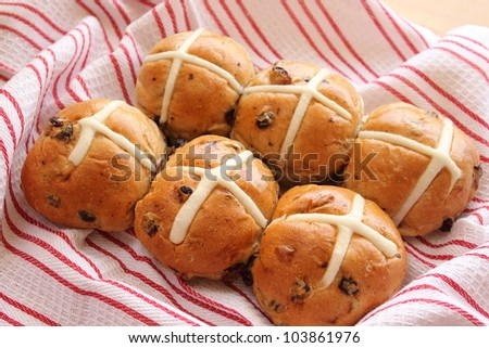 Hot cross buns - stock photo