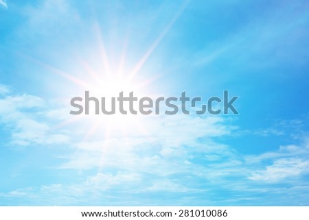 Hot day cloud sky by nature - stock photo