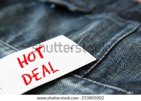 hot deal  on tag paper  - stock photo