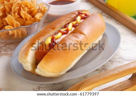 Hot dog bread - stock photo