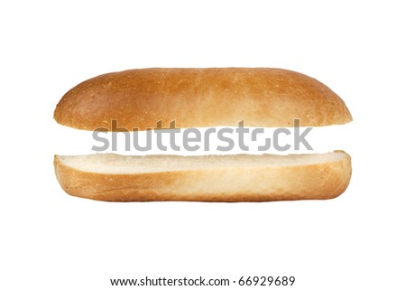 hot dog without filling color image isolated on a white background