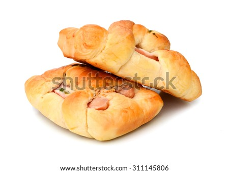 Hot dogs or Wieners with mustard and ketchup toppings, the original classic take away food - stock photo