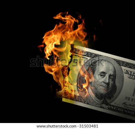 hot dollar - stock photo