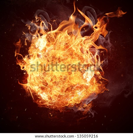 Hot fires flame in motion - stock photo