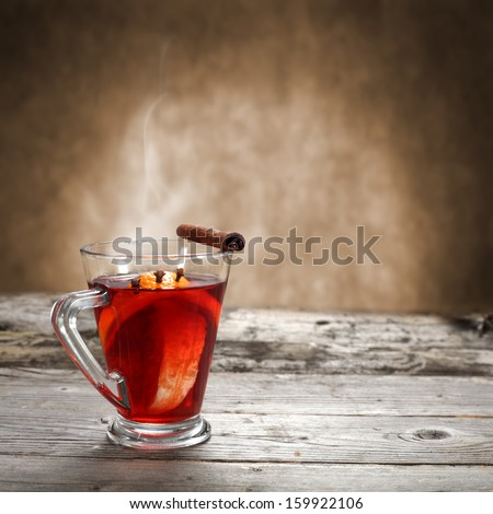hot glass of drink  - stock photo