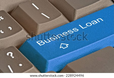 Hot key for business loans - stock photo