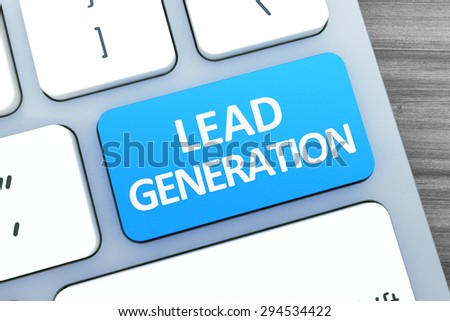 Hot key for Lead Generation on Modern Computer Keyboard. Top view  - stock photo