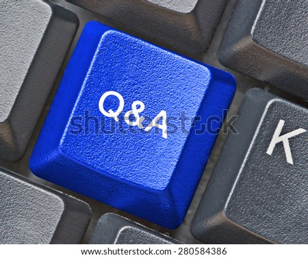 Hot key for questions and answers - stock photo