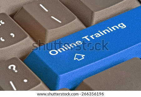 Hot key for training - stock photo