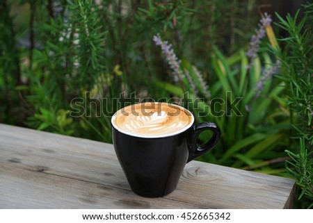 Hot Latte Coffee - stock photo