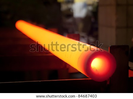 Hot metal after rolling getting cold - stock photo
