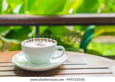 hot mocca in coffee shop - stock photo