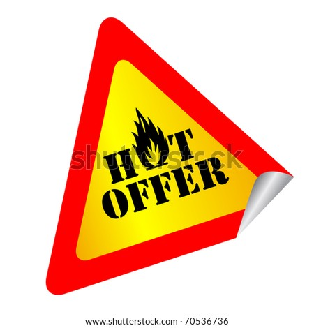 Hot offer label - stock photo