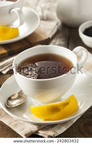 Hot Organic Black Tea with Fresh Lemon