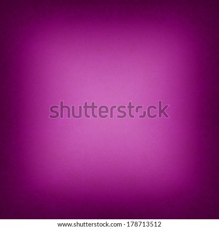 hot pink background black border or dark frame, smooth bright center texture into gradient square black vignette edge, abstract pink  paper for brochure or web backdrop color image - stock photo