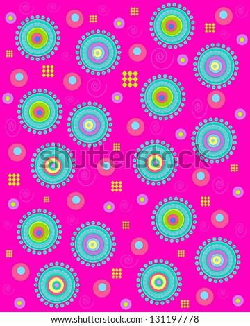 What Colors Go With Hot Pink hot pink background coveredlarge stock illustration 131197778