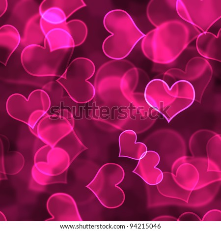 Hot Pink Heart Background Wallpaper Stock Photo 94215046 ...