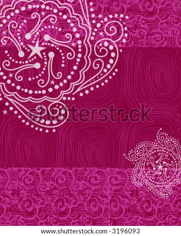 Hot Pink Henna Background - stock photo