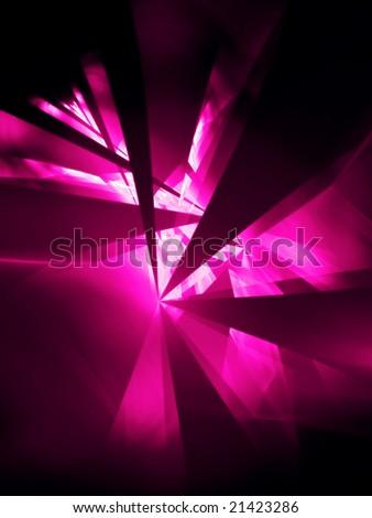 Hot Pink Party - 3D fractal Illustration - stock photo