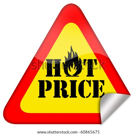 Hot price sign - stock photo