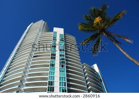 Hot real estate market in Miami Beach, Florida - stock photo