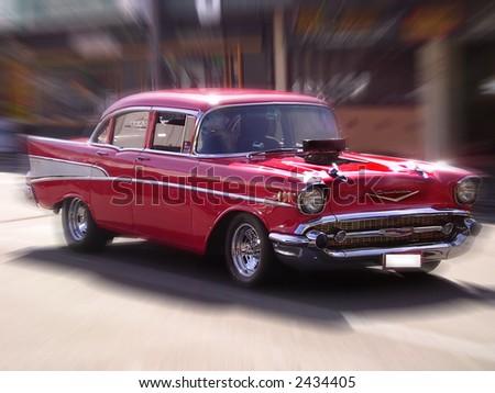 Hot-rod car - stock photo