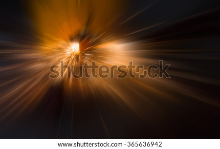 hot sparks at grinding steel material - stock photo