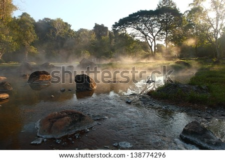 Hot spring - stock photo