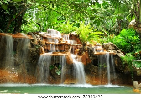 Hot springs in Costa Rica - stock photo
