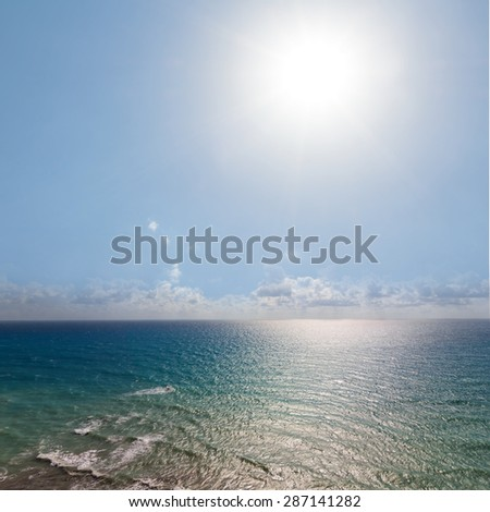 hot summer day on a sea - stock photo