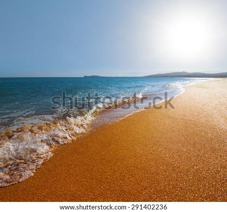 hot summer sea coast - stock photo