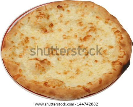 Hot Tasty bread cake with cheese isolated - stock photo