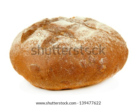 Hot tasty bread, isolated on white - stock photo
