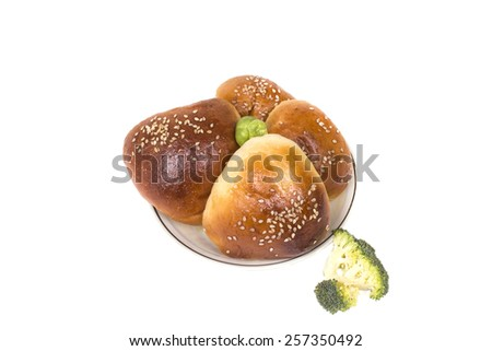 hot tasty liver rolls with cabbage - stock photo
