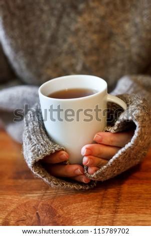 hot tea - stock photo