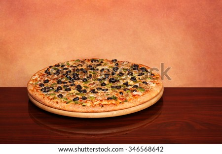 Hot Veggie Pizza on the table