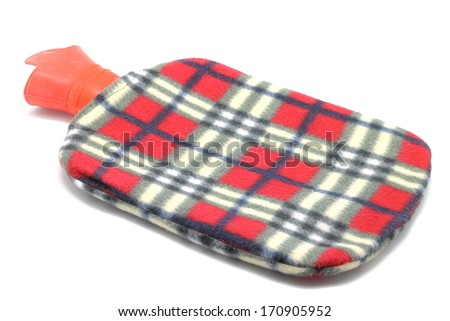 Hot water bag isolated on white background - stock photo