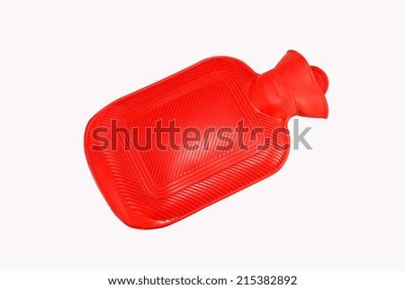 hot water bottle isolated on white background - stock photo